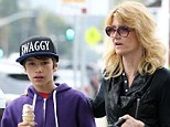He has got some swagger! Laura Dern and son Ellery Walker Harper grab some ice cream in Brentwood