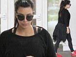 Kim Kardashian leaving Nate 'n Al Delicatessen after grabbing a quick bite to eat