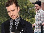 Cutting it fine! Justin Timberlake goes from drab to dapper at his 20/20 album launch party