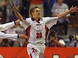 World at his feet: Michael Owen celebrates his wonder goal for England against Argentina at France 98