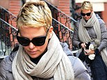 Charlize Theron bundles up in style on the Boston set of Hatfields & McCoys
