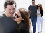 Calling it quits: Seth MacFarlane and Emilia Clarke, pictured in Los Angeles on September 25, have reportedly split