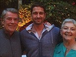 Family guy: Gerard Butler posted a picture of himself and his parents to his Twitter page on Monday night