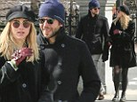 Bradley Cooper and rumored girlfriend Suki Waterhouse enjoy the sites of Boston Common, Massachusettes while walking in freezing temperatures