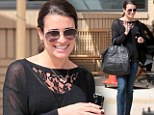 Busy girl: Lea Michele hits the ground running finding time to go shopping, have a lunch date and record a song as she returns from a romantic getaway