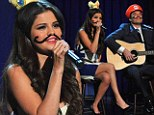 Selena Gomez on Late Night With Jimmy Fallon on Tuesday