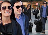 Positively Glee-ful! Lea Michele and boyfriend Cory Monteith can't stop smiling as they jet out of Canada together