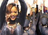 So that's why she was late on stage! Rihanna shares pre-show ritual in series of candid backstage snaps