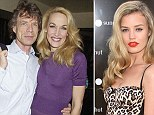 Rolling Stones singer Mick Jagger and his ex-wife model Jerry Hall