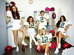 Lets play ball: The Saturdays have dressed up as American football players for heat magazine