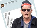 Charlie Sheen reveals note threatening his family was KNIFED to tree outside ex-wife Denise Richard's house