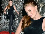 Sophie Turner poses at the Academy of Television Arts & Sciences presents an evening with HBO's Game Of Thrones at TCL Chinese Theatre on March 19