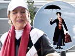 Forget your umbrella? Mary Poppins star Julie Andrews ditches her magical flying accessory for a more conventional mode of transport