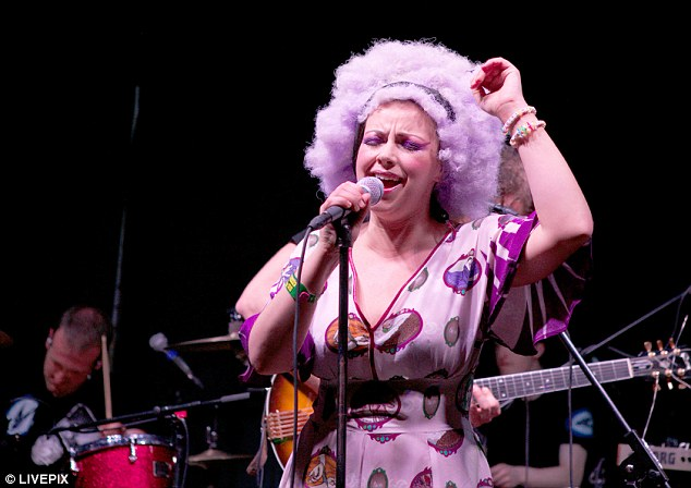 The hippy shake: Charlotte put on a good show with the backing of a live band