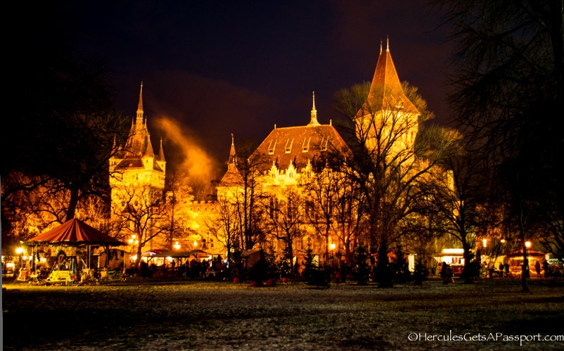 ChristmasCastle Budapest At Night