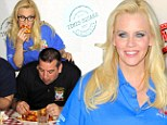 Buon apetito! Jenny McCarthy loads up on pasta for NYPD and National Ravioli Day