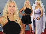 What a transformation! Christina Aguilera proudly shows off her dramatic weight loss in a chic flirty little black dress