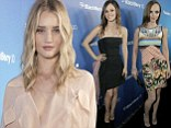 Christina Ricci, Rachel Bilson and Rosie Huntington-Whiteley all appeared in need of a few canapes to keep them going as they showed off their skinny frames at the event.
