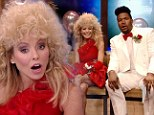 High school flashback! Kelly Ripa dons frizzy wig and a recreation of her own prom dress for Live! with Kelly and Michael