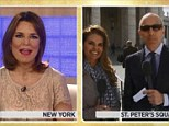 Anchor? Maria Shriver, pictured next to Matt Lauer, right, was back on the Today show this morning, and Savannah Guthrie, left, looked a bit uneasy about it back in New York