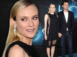 Sheer daring! Diane Kruger flashes some skin in a see-through black dress while cosying up to boyfriend Joshua Jackson at The Host premiere