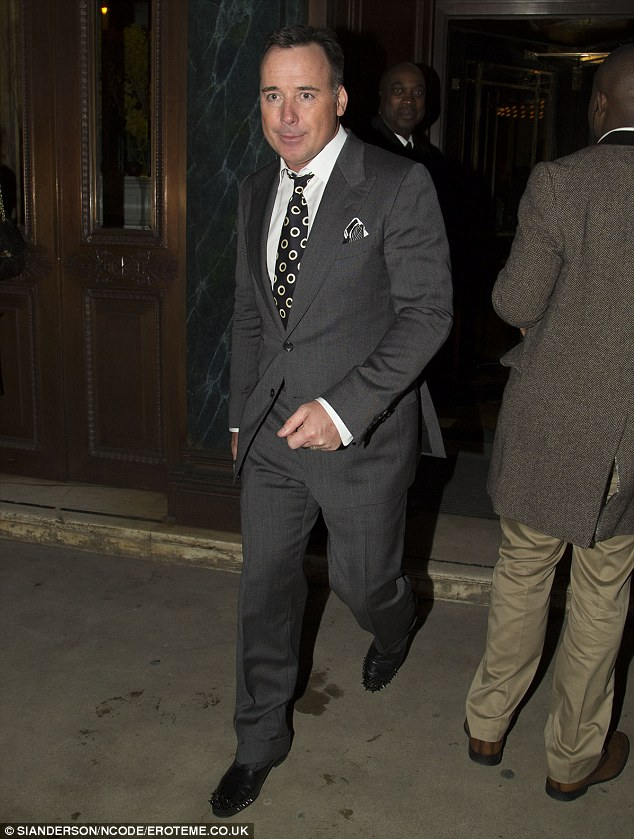 Where's Elton? David Furnish was also among the guest invited to the exclusive soiree
