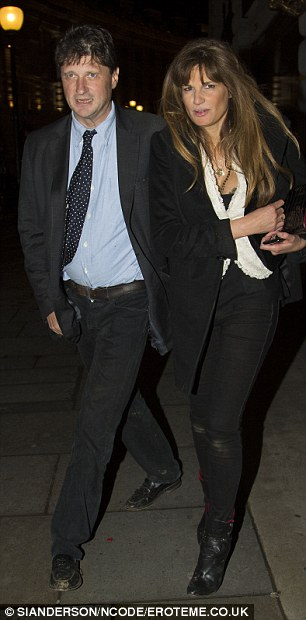 Also in attendance: Hurley's ex-husband Arun Nayar and his girlfriend Kim Johnson also made an appearance at the party as did Jemima Khan (right)