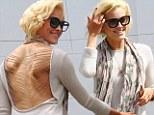 Stunner: Peta Murgatroyd showed some skin in backless top after a successful premiere at Dancing With The Stars, on Tuesday