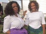 Ready for her action sequence: Oprah Winfrey has introduced her body double Shaka to the world in an interview promoting her Confidence magazine