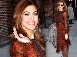 Eva Mendes visits the Late Show with David Letterman