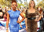 Fashion clashing? Mel B and Heidi Klum bring out all the stops in in Texas