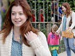 Hopping around: Alyson Hannigan and daughter Satyana prepare for two special holidays