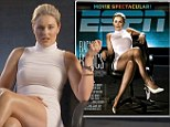 Is this what caught Tiger's eye? Lindsey Vonn wears tight white dress to recreate Sharon Stone's famous 'leg-crossing' scene in R rated film Basic Instinct