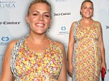 In full bloom! Pregnant Cougar Town star Busy Phillipps steals the show in floral dress at Hollywood children's charity event