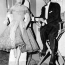 Judy Holliday and Dean Martin clown on a break from filming <em>Bells Are Ringing</em>