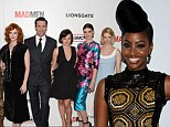 Welcome to our Mad (Men) world! Show newcomer Teyonah Parris stands out from her castmates in stunning fitted dress at series premiere event