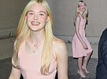 Pretty in pink: Elle Fanning at the Jimmy Kimmel Show