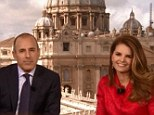 Seasoned presenter: Maria Shriver looked comfortable on screen with Matt Lauer while on the Today show in Rome but has reportedly turned down a permanent TV gig