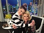 'Welcome back!' Joan Rivers was delighted to see Kelly Osbourne back on the set of Fashion Police