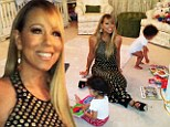 Mariah Carey isn't the average working mother as she wears glamorous gown to read twins a bedtime story