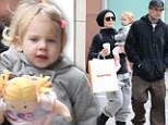 This is your day! Pink treats daughter Willow to indoor play land and a new rag doll