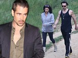Working off his dinner in advance! Colin Farrell goes for brisk hike with lady friend... then rewards himself with Chinese meal