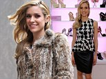Two looks, one outfit! Kristin Cavallari wears fabulous fur coat... then reveals houndstooth top at shoe line event