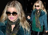 Fergie on Thursday finally let her 'lovely baby bump' show as she left a television appearance in New York City.