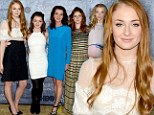 Fit for a queen! Sophie Turner shines in lace as women of Game of Thrones lead the way at San Francisco showing