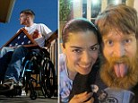 Enduring love: Tomas Young with his wife Claudia Cuellar, pictured in happier times. She supports his decision to end his life after suffering years of chronic pain since he was paralyzed in the Iraq War