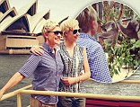 Finally meeting the relatives! Portia De Rossi shows wife Ellen DeGeneres around her native Australia... with a visit to the Opera House and a koala encounter