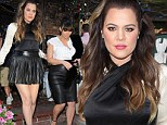 The 28-year-old reality show star sported a revealing black flared miniskirt, a halterneck black and cream top, and chunky black heels for the visit to swanky West Hollywood restaurant The Ivy.