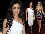 Elegant Cheryl Cole is upstaged by Kimberley Walsh's psychedelic minidress as Girls Aloud party after end of tour and split announcement