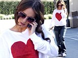 Jennifer Love Hewitt wore a fashionable heart top and sunglasses in Hollywood on Wednesday
